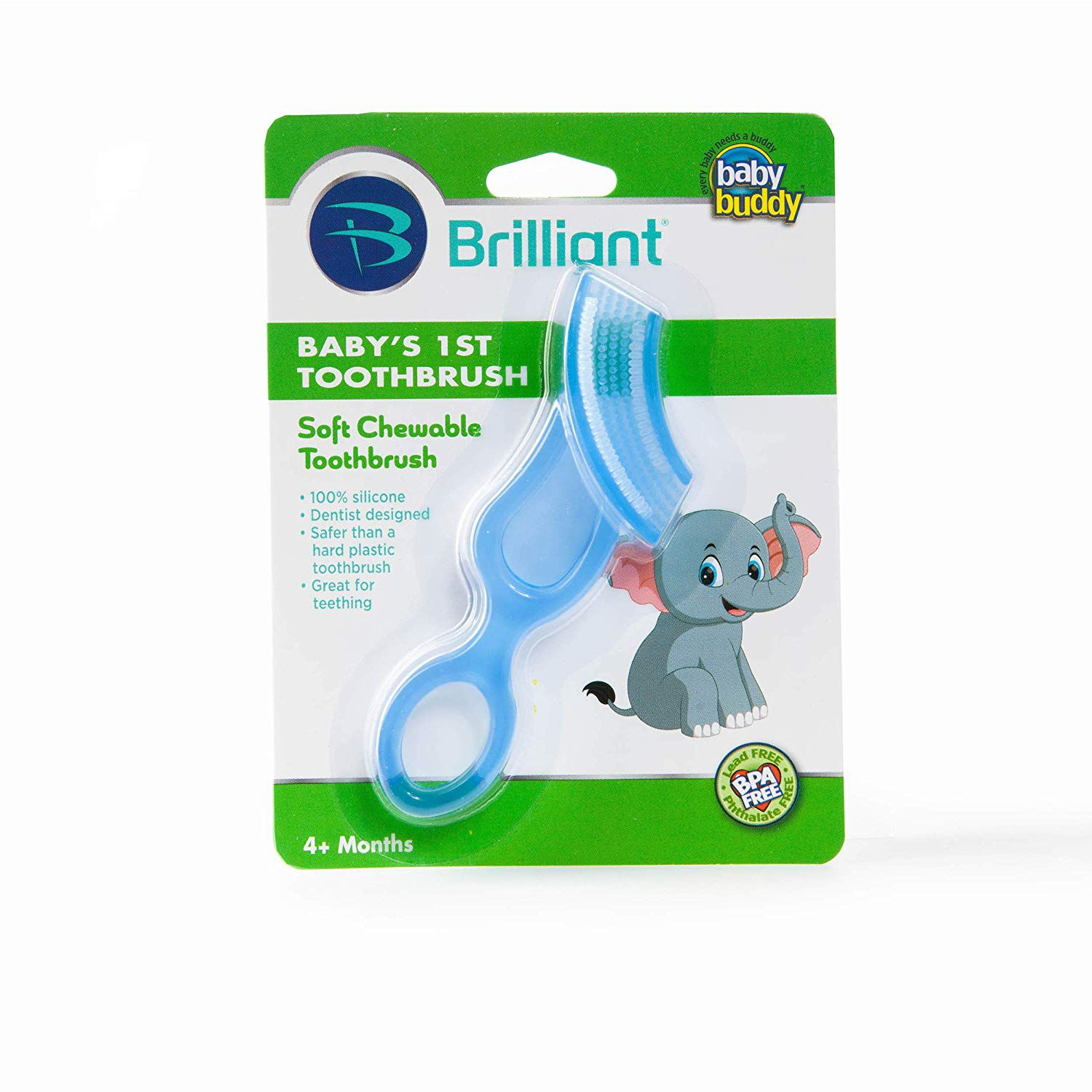 Baby Finger Brush /& First Silicone Toothbrush ~ Set for Toddler Teething Relief