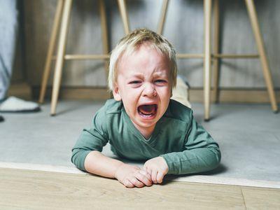 Little boy having a temper tantrum