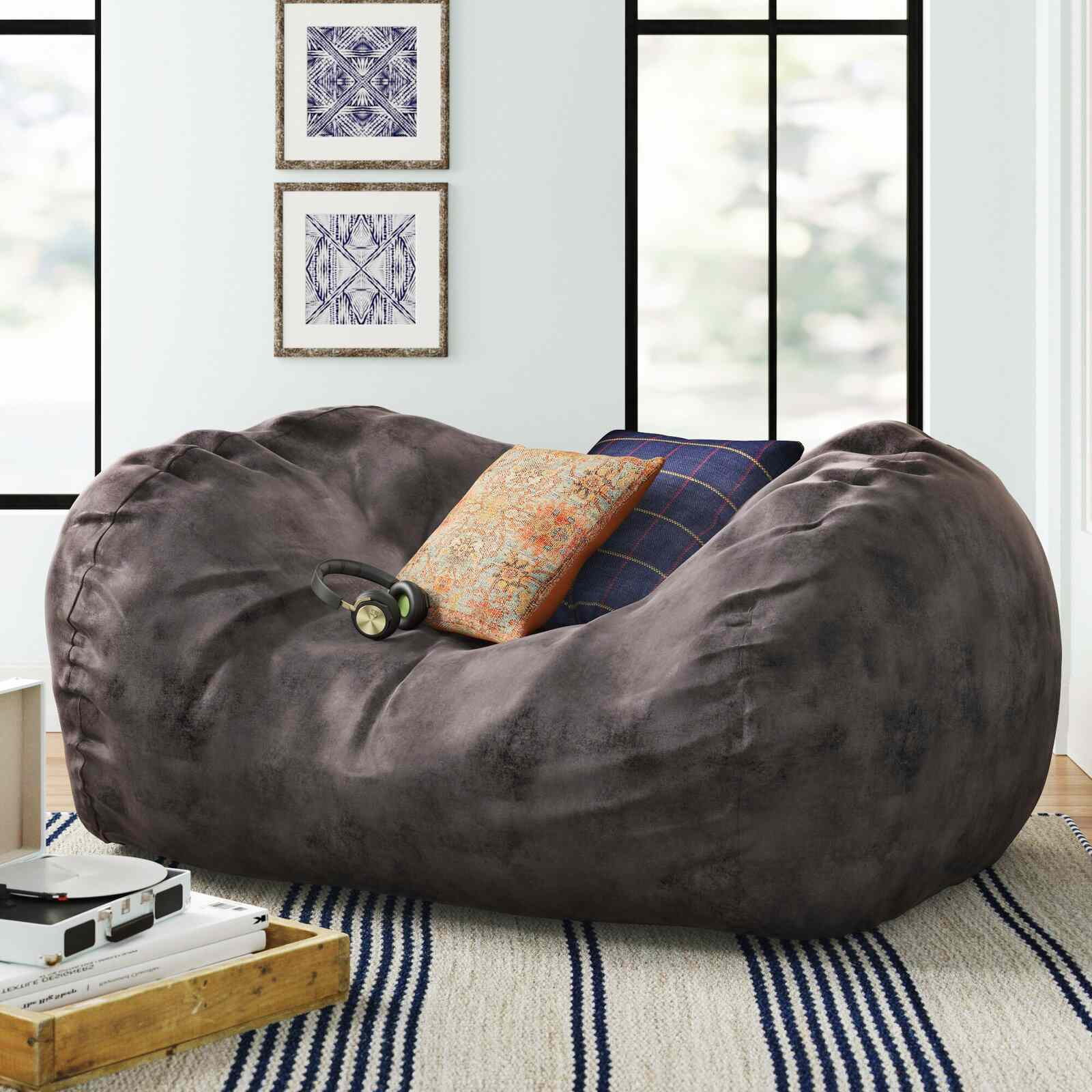 Three Posts Teen Large Bean Bag Sofa