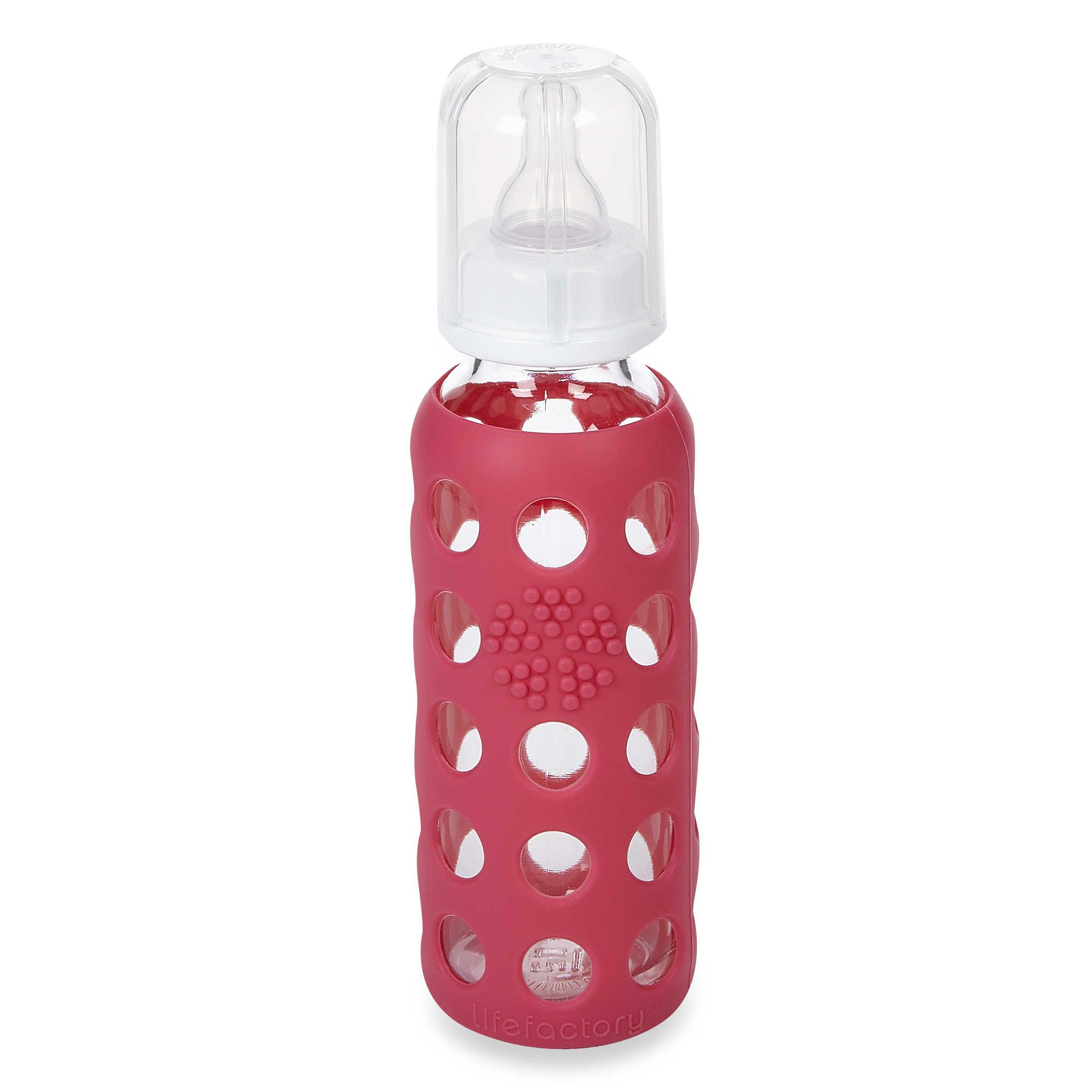 Best With Sleeve: Lifefactory® 9-Ounce Glass Baby Bottle w/Silicone Sleeve
