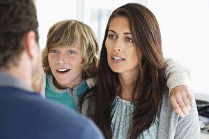 Don't let your child interrupt your conversations.