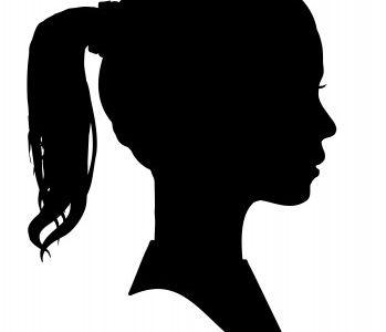 Girl's Silhouette Profile