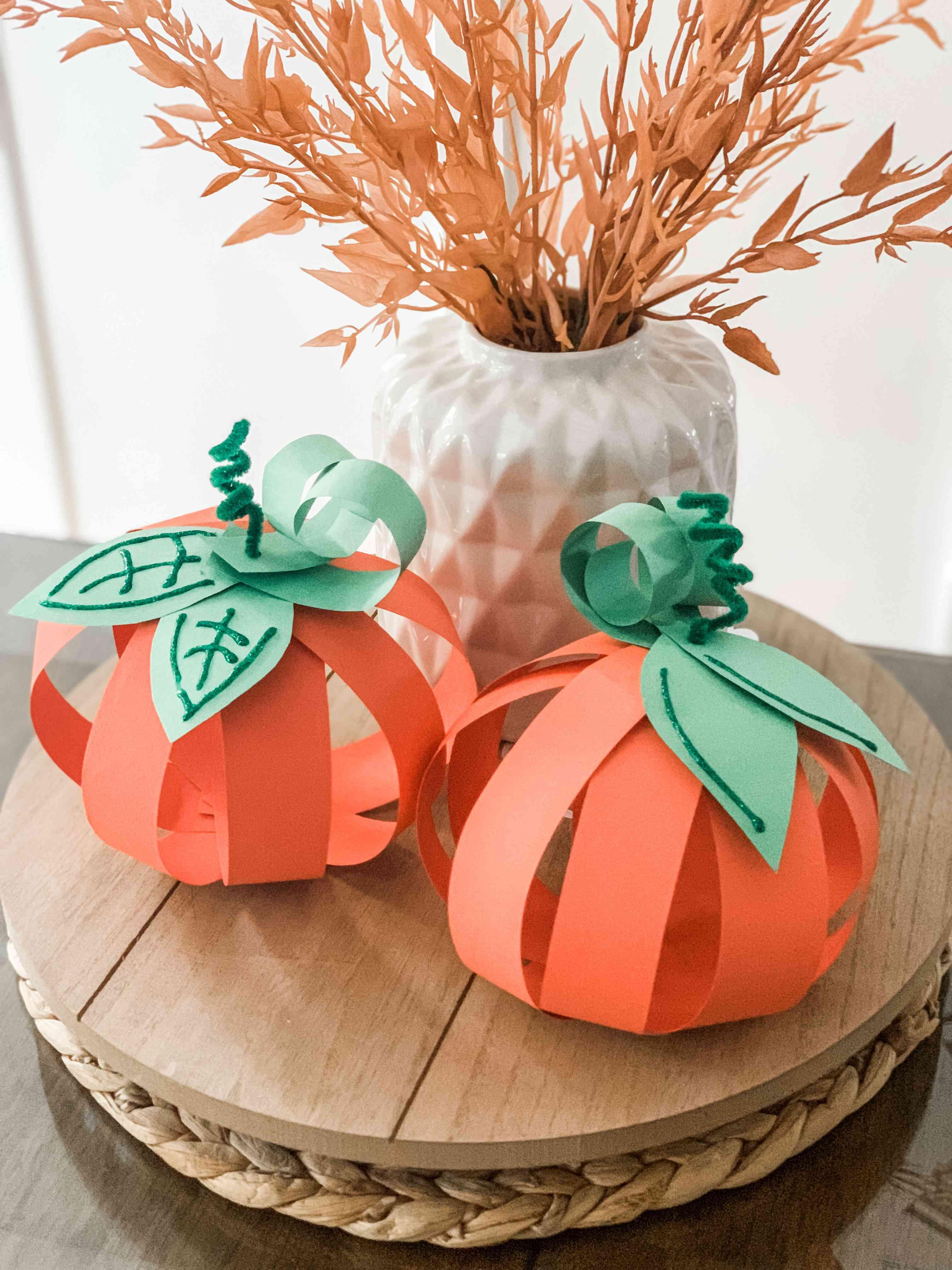 3-D Pumpkin fall craft