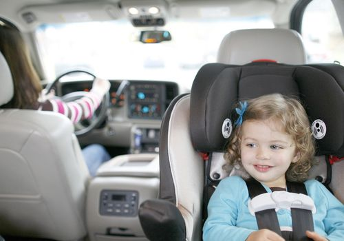 Toddler in rear-facing car seat