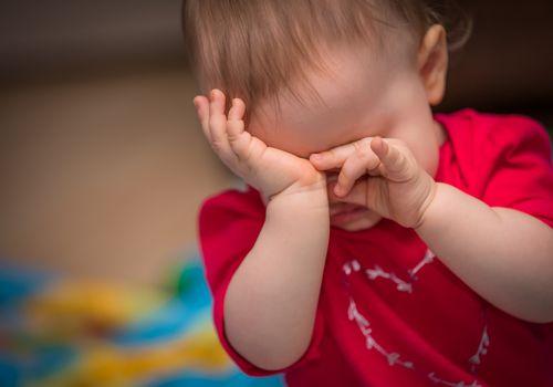 upset toddler