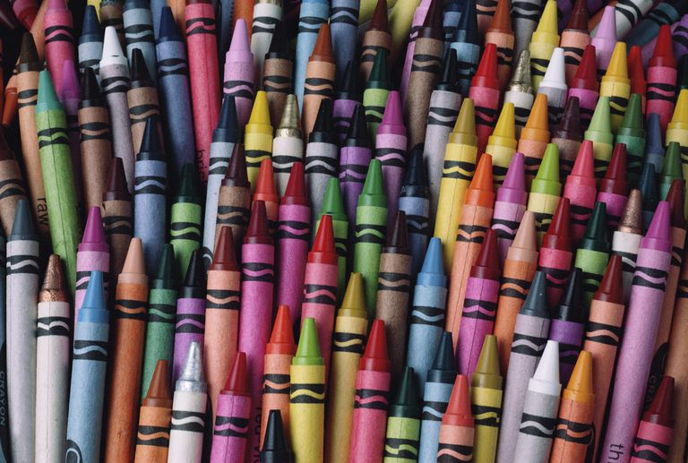 collection of crayons