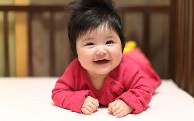 Infant enjoying tummy time