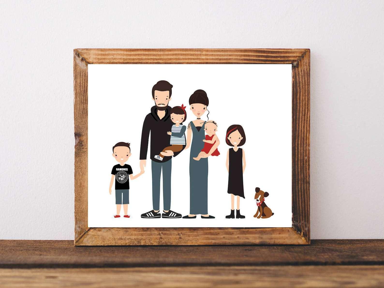 Happy Moments Arts Custom Family Portrait
