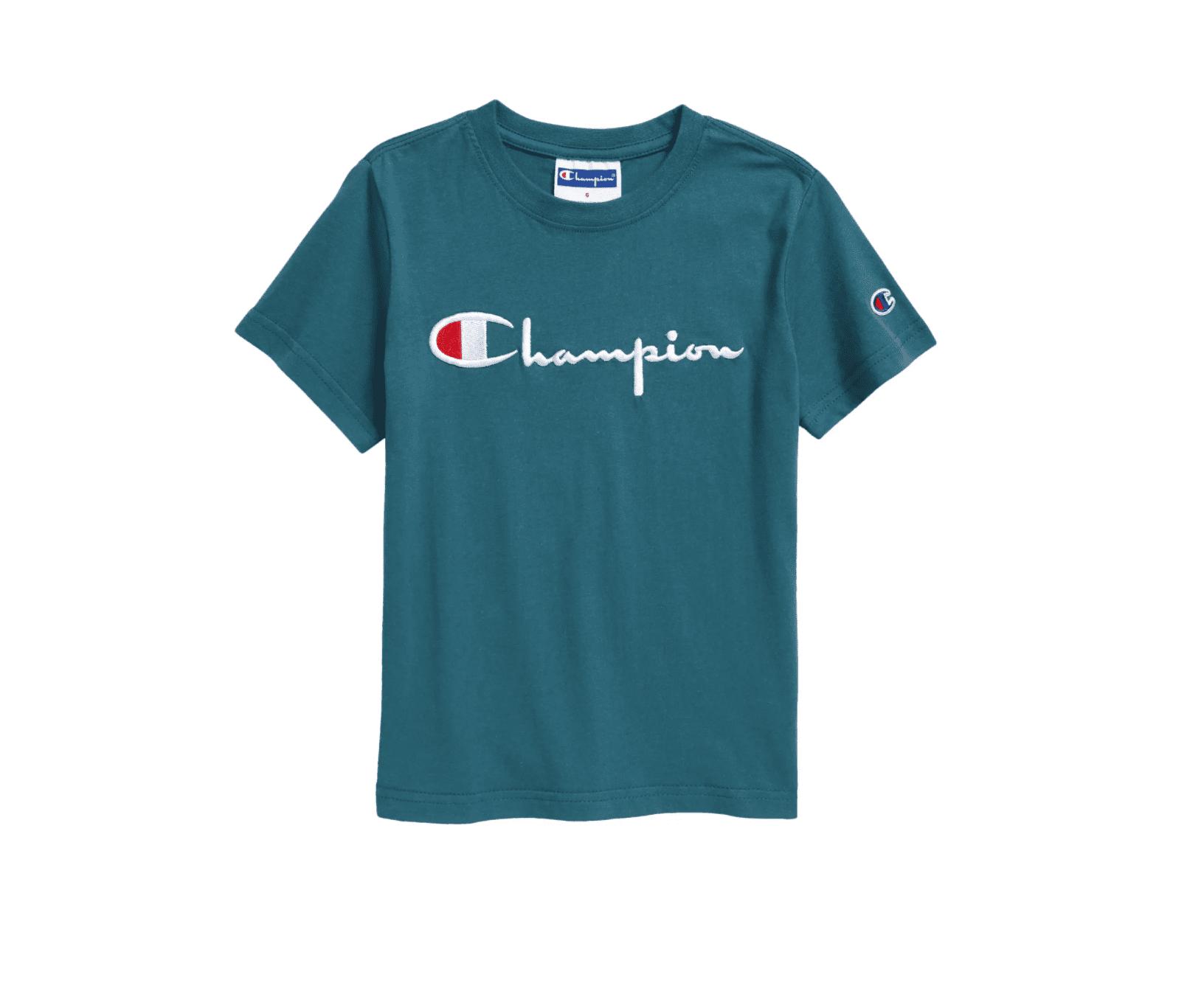 Champion Kids' Embroidered Script Logo T-Shirt