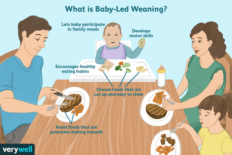 Starting solid foods with baby led weaning