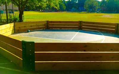 Gaga ball pit at school playground