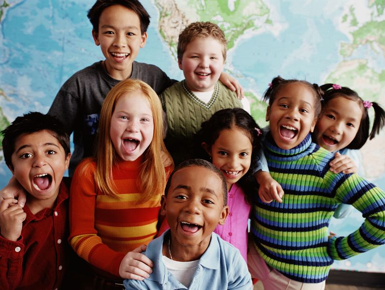 diversity - kids of different races in classroom