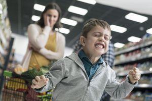 Bad boy in supermarket