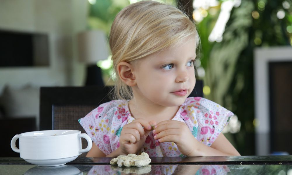 child with nuts