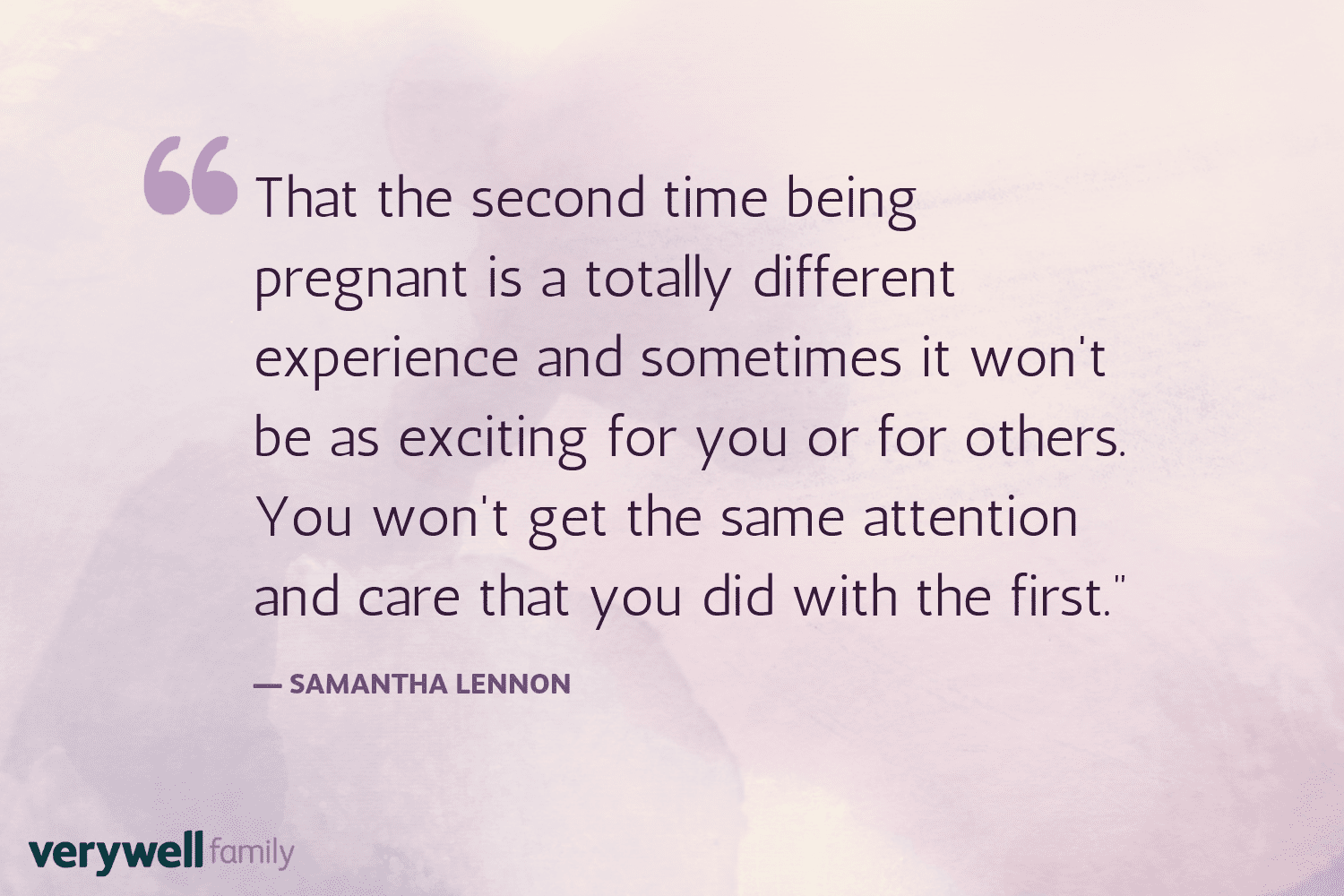 Verywell Family postpartum quote by Samantha Lennon