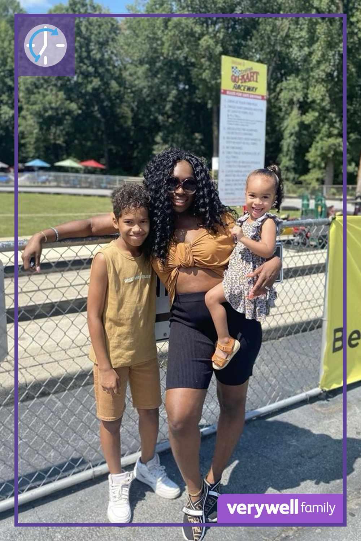 Nikki Osei-Barrett and her children