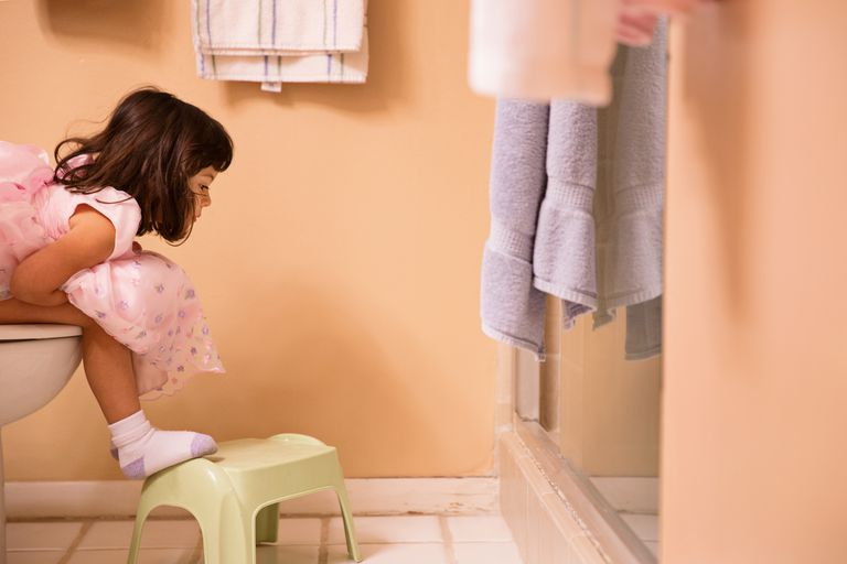 Girl Using the Potty