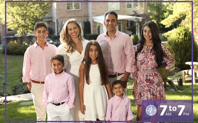 Debi Yadegari and family