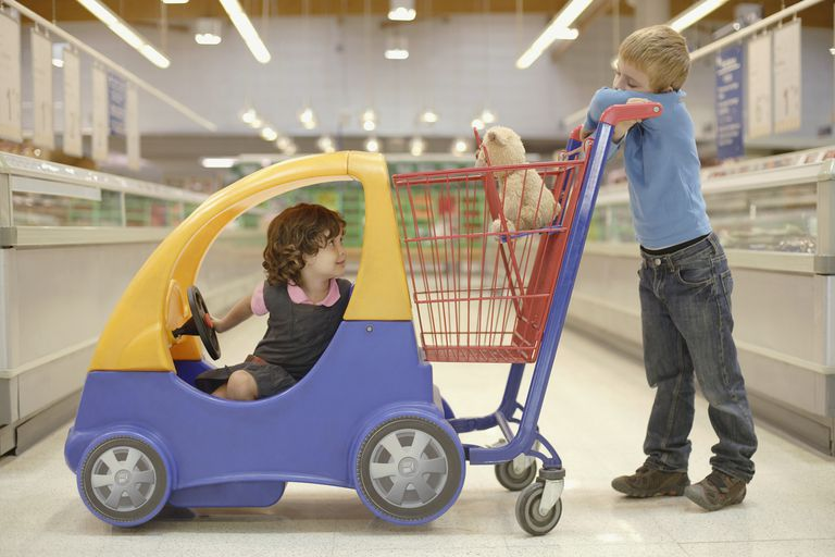 Grocery store meltdowns are common for children.