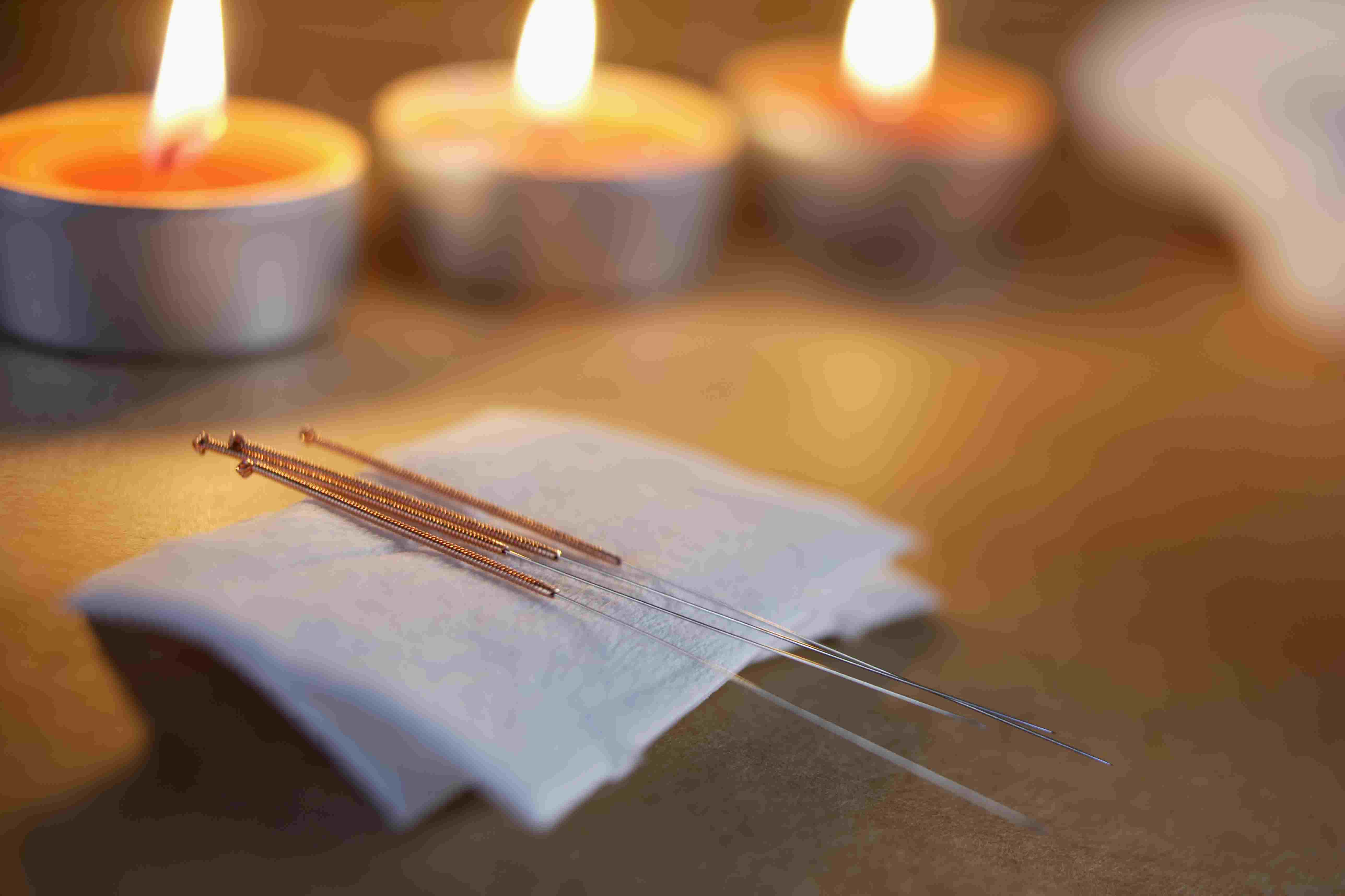 Acupuncture Needles and Tealights