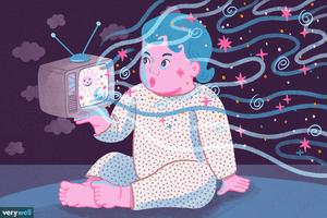 Baby television illustration