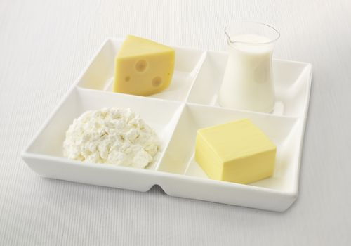 calcium sources on a tray