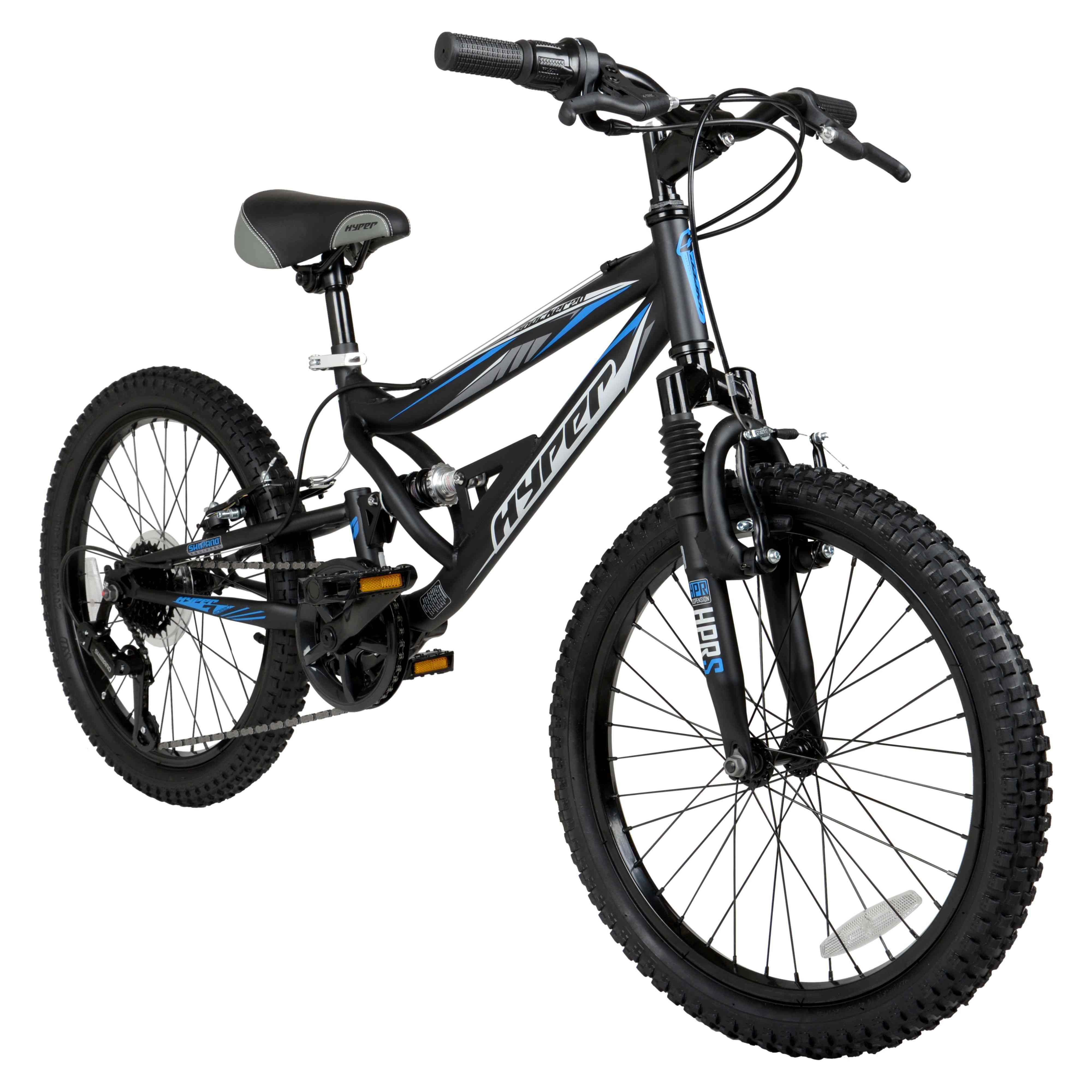 "Hyper 20"" Shocker Kids Mountain Bike, Black"