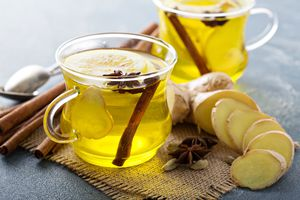 Ginger and lemon drink