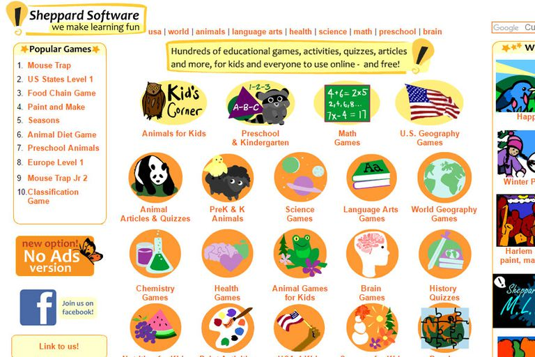 Sheppard Software Website For Kids Review