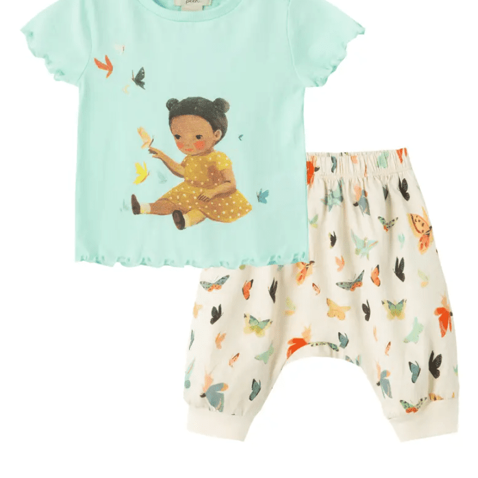 Peek Essentials Dreamworld Butterfly Graphic Tee & Pants Set