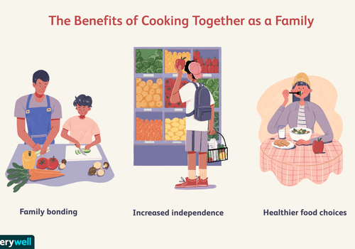 Cooking together as a family