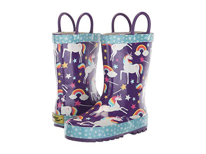 Paperplaneskids Snow Boots for Toddler Little Kid Big Kid Purple