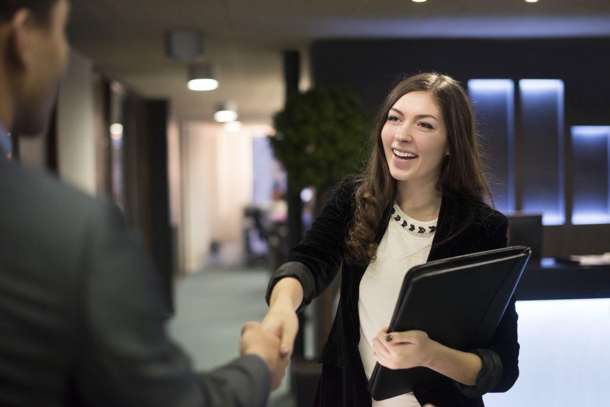 young woman at job interview