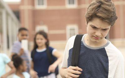 Middle school boy being bullied at school