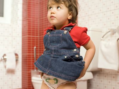 Toddler in the bathroom