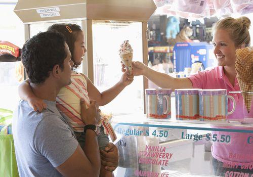 kid getting an ice cream cone