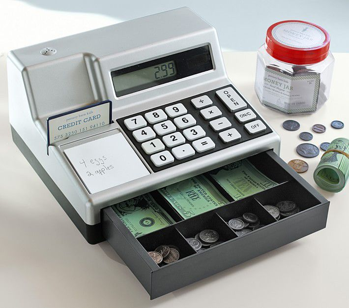 Pottery Barn Kids Cash Register and Play Money