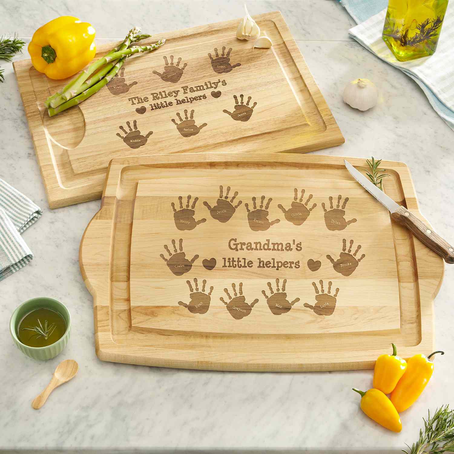 Personal Creations Kitchen Helpers Wood Cutting Board