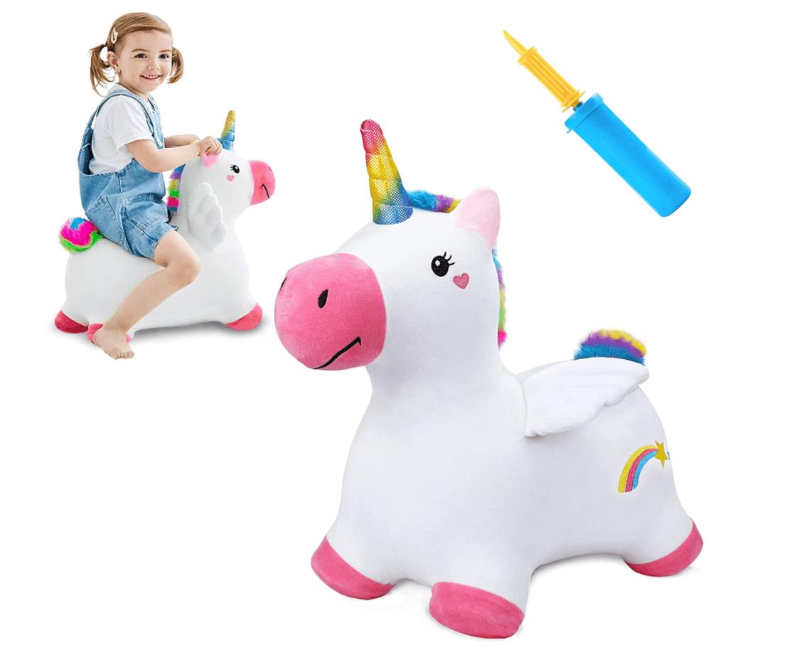 iPlay, iLearn Bouncy Pals Unicorn Hopping Horse Plush