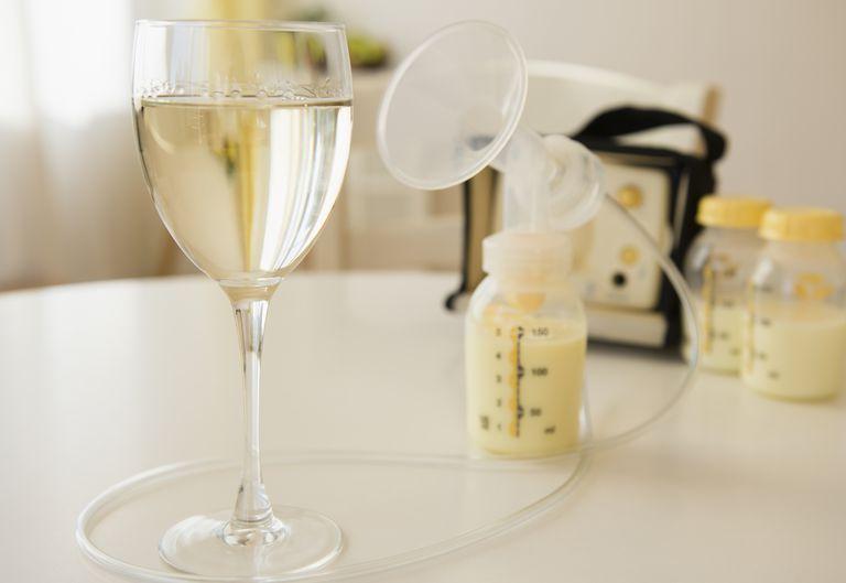 breast milk and wine