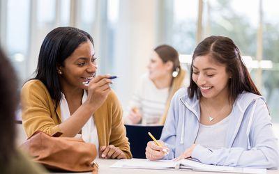 Tutor uses humor to teach student math