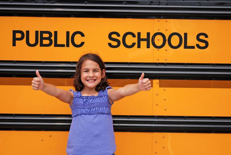 Little girl doing a thumbs up
