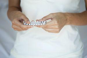 Woman taking birth control
