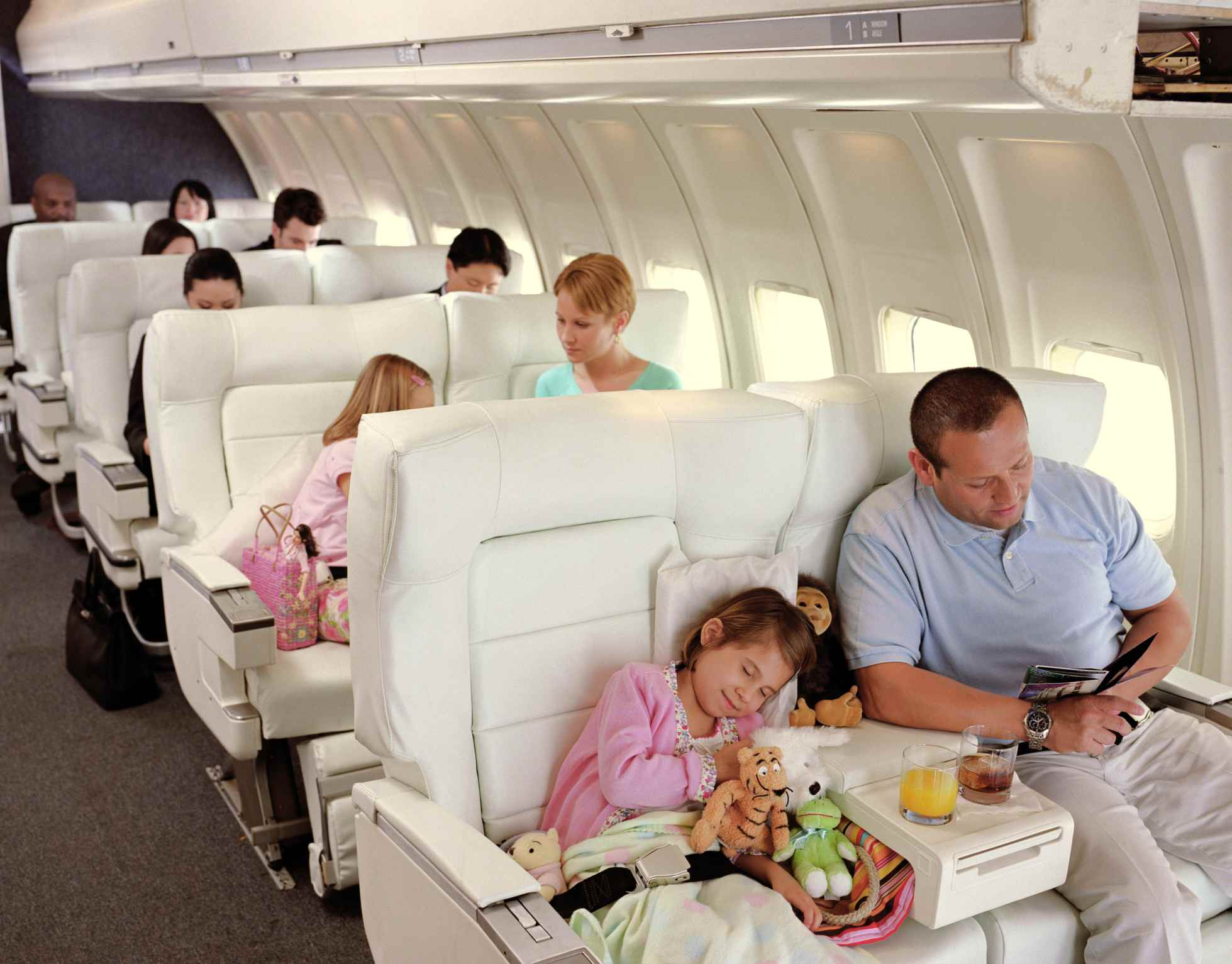 Families on plane