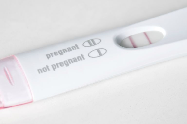 Pregnancy Test Close-Up - Pregnant