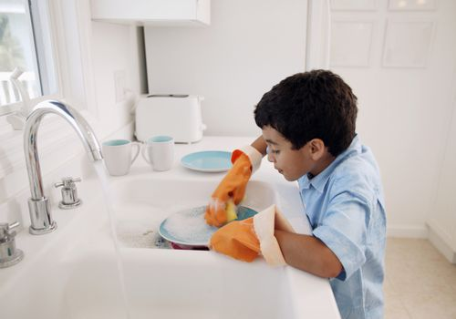 Teach kids to do chores on their own.