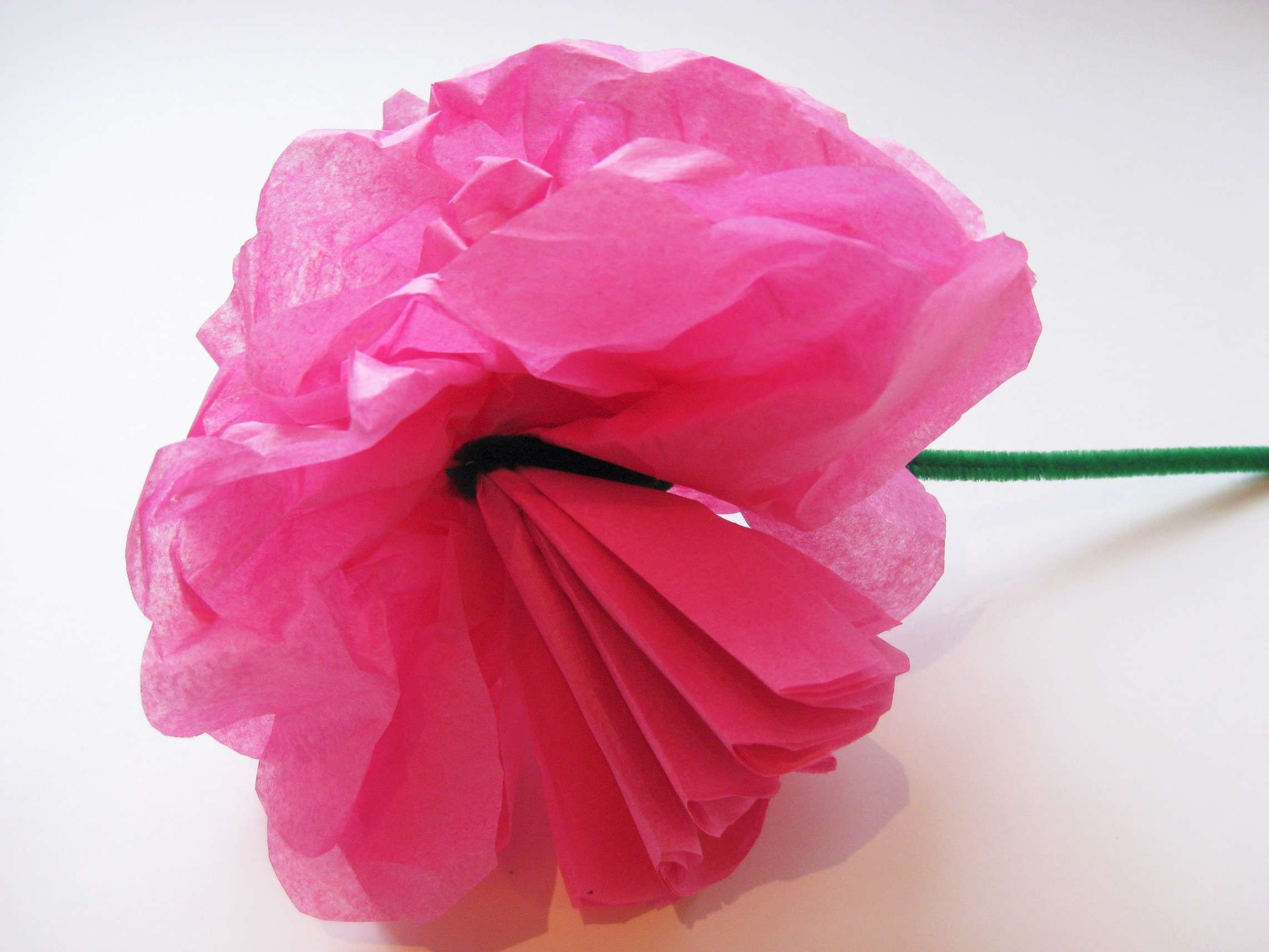 Simple steps to craft tissue paper flowers separate the tissue paper sheets mightylinksfo