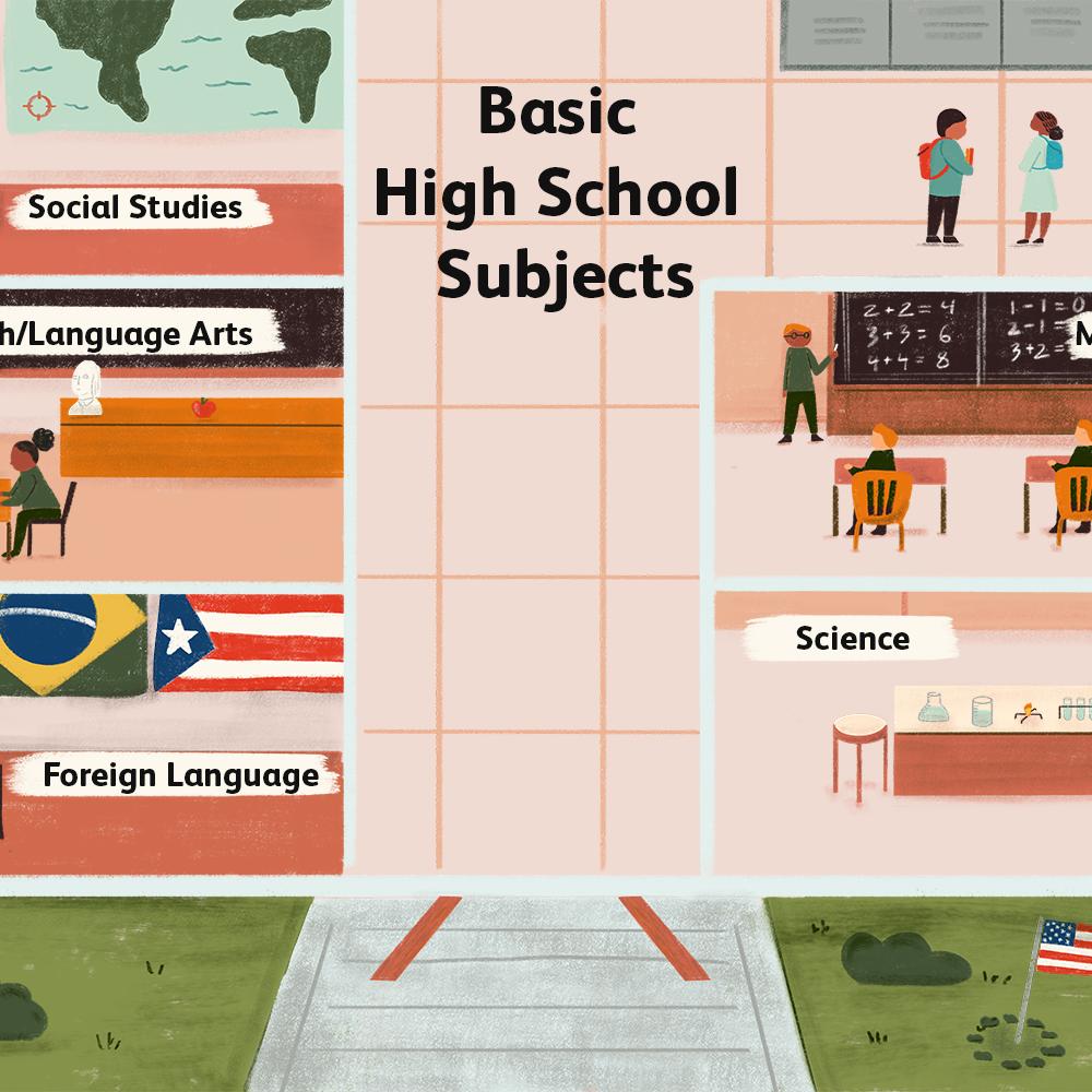 The Basic Classes Teens Take In High School