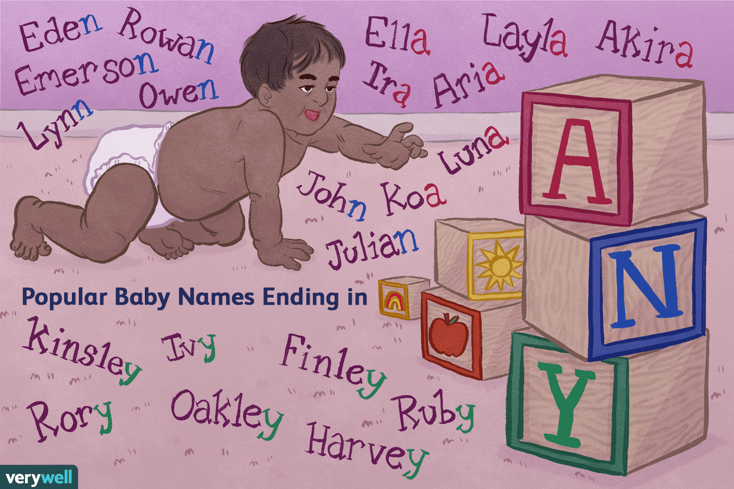 300 Popular Boy and Girl Baby Names Ending in A, N, and Y