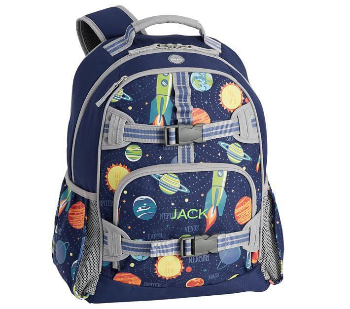 Mackenzie Navy Solar System Glow-in-the-Dark Backpacks